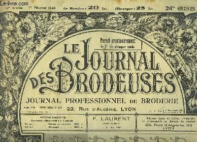 Le Journal des Brodeuses N°635 - 33e année : Chemin de table nappe - Napperon sur tulle - Taie d'oreiller - Corsage-Chemisier ...