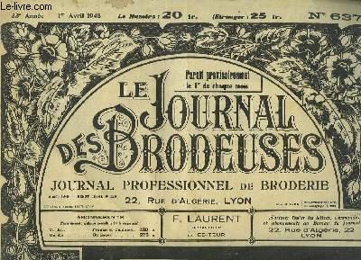 Le Journal des Brodeuses N°637 - 33e année : Drap - Service à Thé - Chemisiers - Festons d'hiver ...