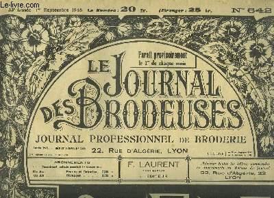 Le Journal des Brodeuses N°642 - 33e année : Napperon - Cols - Lingerie - Taie d'oreiller - Dessous de tasses ...