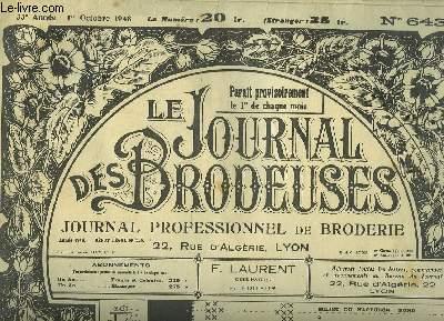 Le Journal des Brodeuses N°643 - 33e année : Napperon - Aube - Chemisier - Nappe-chemin - Lingerie - Festons ...