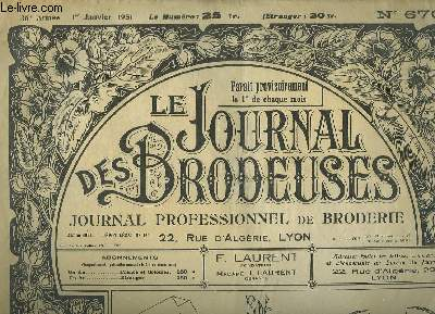 Le Journal des Brodeuses N°670 - 36e année : 2 bavoirs à thé - 2 corsages chemisiers - Tablier d'enfant - Napperon ...