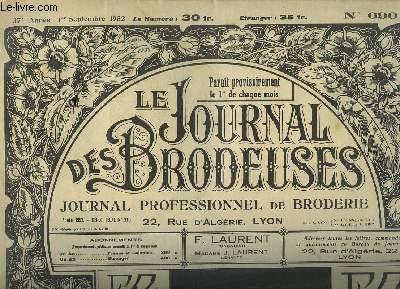 Le Journal des Brodeuses N°690 - 37e année : Bavoir - Tapis de table - Taie - Drap Berceau - Combinaisons - 2 Corsages chemisiers ...