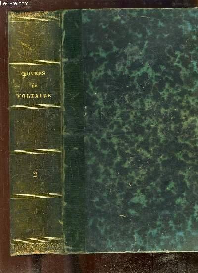 Oeuvres complètes de Voltaire, avec une notice historique sur la vie de Voltaire. TOME 2 : Théâtre - La Henriade - La Pucelle - Poésies.