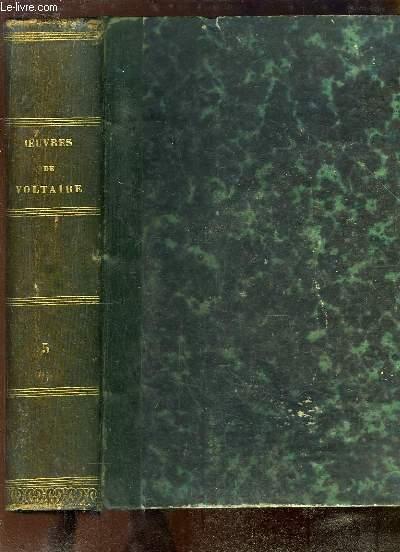 Oeuvres complètes de Voltaire, avec une notice historique sur la vie de Voltaire. TOME 5 : Mélanges historiques - Politique et Législation - Physique.