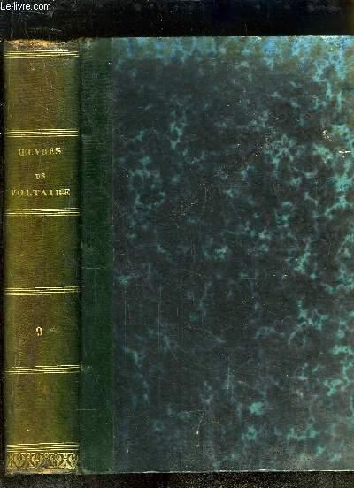 Oeuvres complètes de Voltaire, avec une notice historique sur la vie de Voltaire. TOME 9 : Mélanges Littéraires - Commentaires sur Corneille.