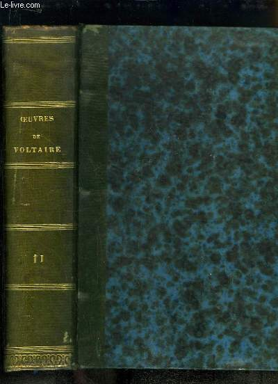 Oeuvres complètes de Voltaire, avec une notice historique sur la vie de Voltaire. TOME 11 : Correspondance Générale, Tome 1er