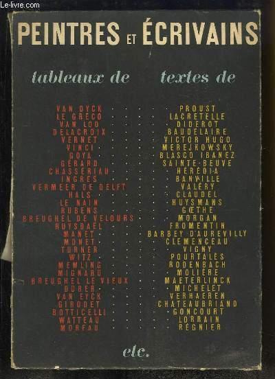Peintres et Ecrivains. 50 textes inspirés par 50 tableaux de Maîtres.