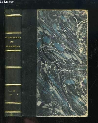 Lettres d'Amour. Précédées d'une étude sur Mirabeau, par Mario PROTH.