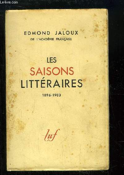 Les Saisons Littéraires. 1896 - 1903