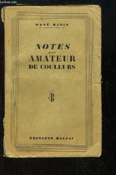 Notes d'un amateur de couleurs.