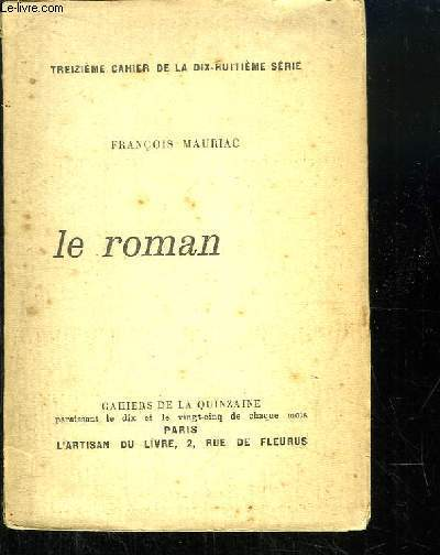 Le Roman. Cahier de la Quinzaine, 13ème cahier de la 18e série.