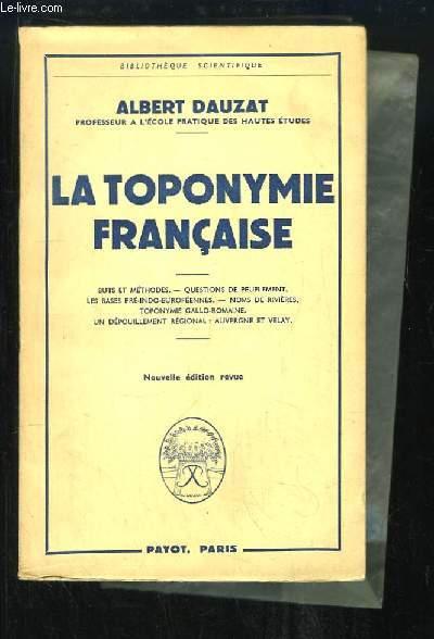 La Toponymie Française.