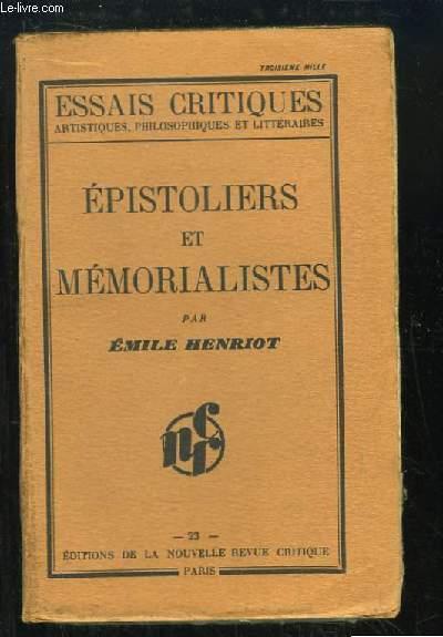 Epistoliers et Mémorialistes