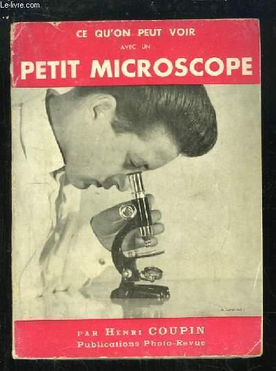 Ce qu'on peut voir au petit microscope.