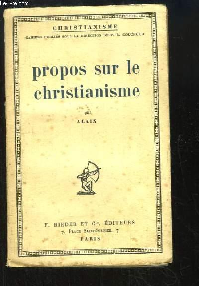 Propos sur le christianisme.