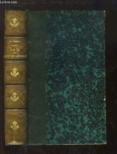 Laïs de Corinthe (d'après un manuscrit grec) et Ninon de Lenclos. Biographie anecdotique de ces deux femmes célèbres.