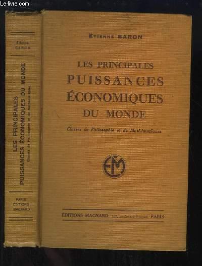 Les principales puissances économiques du Monde. Classes de Philosophie et de Mathématiques. Programme du 30 avril 1931