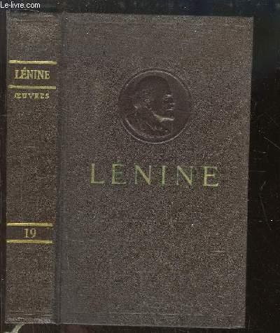 Oeuvres de V. Lénine. TOME 19 : Mars - Décembre 1913