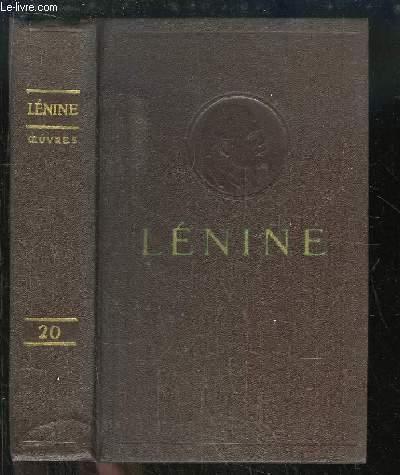 Oeuvres de V. Lénine. TOME 20 : Décembre 1913 - Août 1914