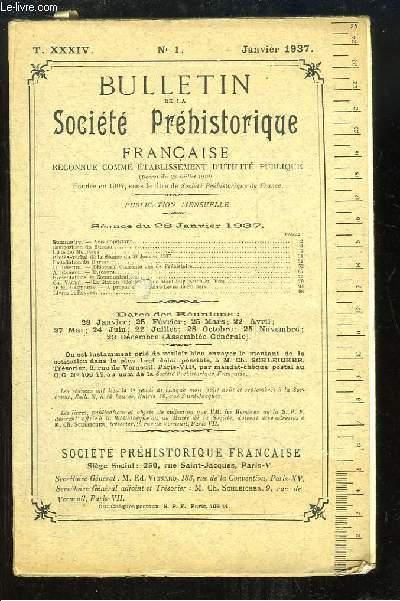 Bulletin de la Société Préhistorique Française. N°1 - Tome 34 : La station néolithique de Mont-Joly ...