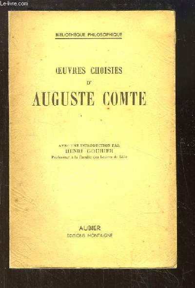 Oeuvres choisies d'Auguste Comte