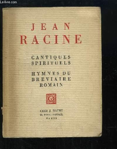 Cantiques spirituels. Hymnes du Bréviaire Romain.