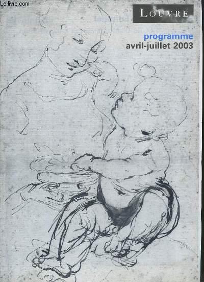 Programme d'Avril à Juillet 2003