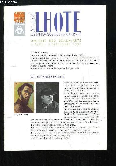 André Lhote, les langages de la modernité. Exposition du 6 avril au 3 septembre 2007
