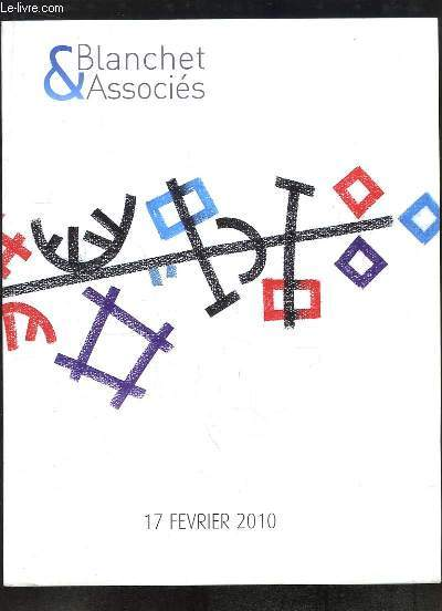 Catalogue de la Vente aux Enchères du 17 février 2010 à Drouot-Richelieu, d'Estampes Modernes, d'Art Moderne et Contemporain