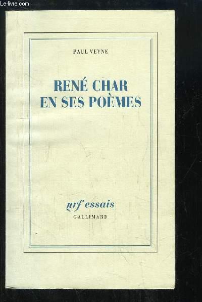 René Char en ses poèmes.