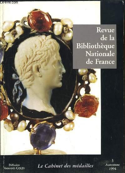 Revue de la Bibliothèque Nationale de France N°3 : Le Cabinet des Médailles.