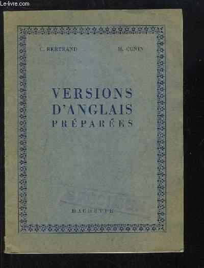 Versions d'Anglais préparées