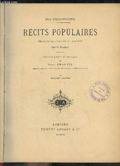 Récits Populaires.