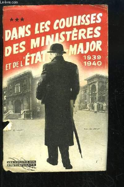 Dans les coulisses des ministères et de l'Etat-Major, 1930 - 1940