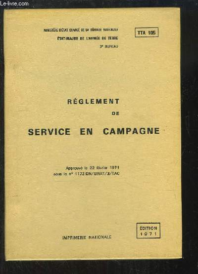 Règlement de Service en Campagne