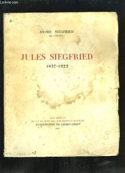 Jules Siegfried, 1837 - 1922