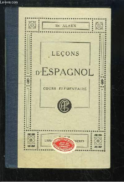 Leçons d'Espagnol. 1ère partie : Cours élémentaire.