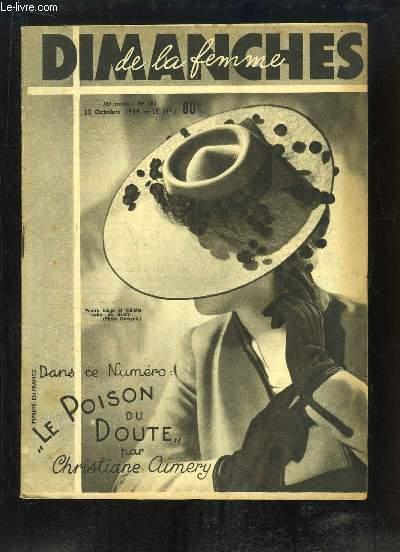 Dimanches de la Femme N°193 - 18e année :