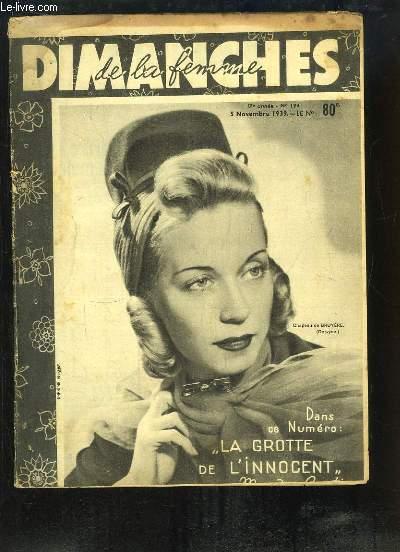 Dimanches de la Femme N°194 - 17e année : La Grotte de l'Innocent Magda Contino ...