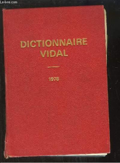 Dictionnaire Vidal, 1978