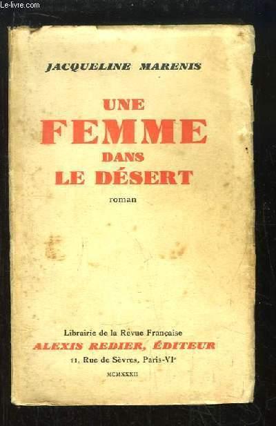 Une femme dans le désert.