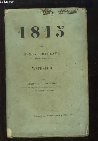 1815. Waterloo.