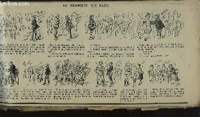 Recueil d'Historiettes d'Henriot, en bandes dessinées : Le Régiment qui passe.