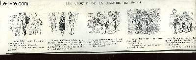 Recueil d'Historiettes d'Henriot, en bandes dessinées : Les Croquis de la Semaine.