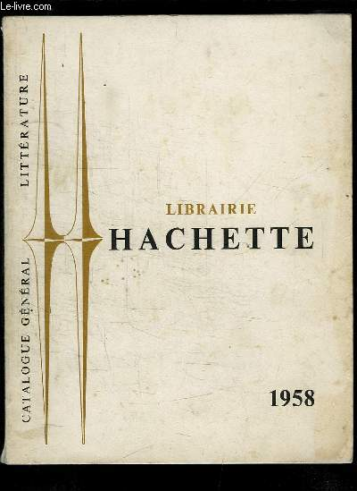 Catalogue général Littérature 1958