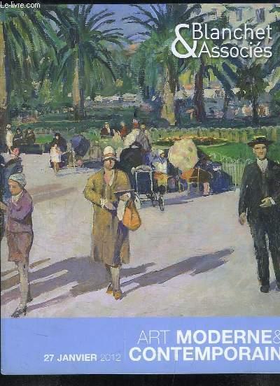Catalogue de la Vente aux Enchères, du 27 janvier 2012 à Drouot-Richelieu, d'Art Moderne & Contemporain