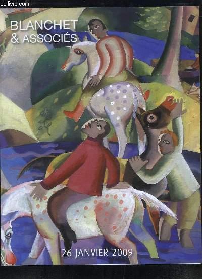 Catalogue de la Vente aux Enchères, du 26 janvier 2009 à Drouot-Richelieu, d'Estampes Modernes, d'Art Moderne & Contemporain.
