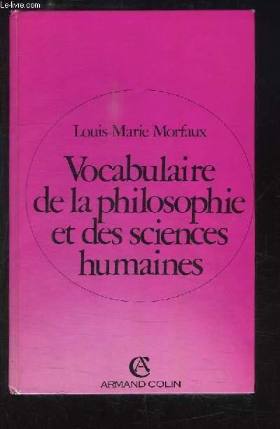 Vocabulaire de la philosophie et des sciences humaines.
