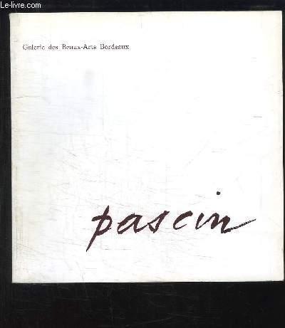 Pascin. Exposition du 15 décembre 1969 au 8 février 1970.