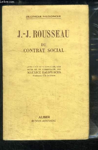 Du Contrat Social.
